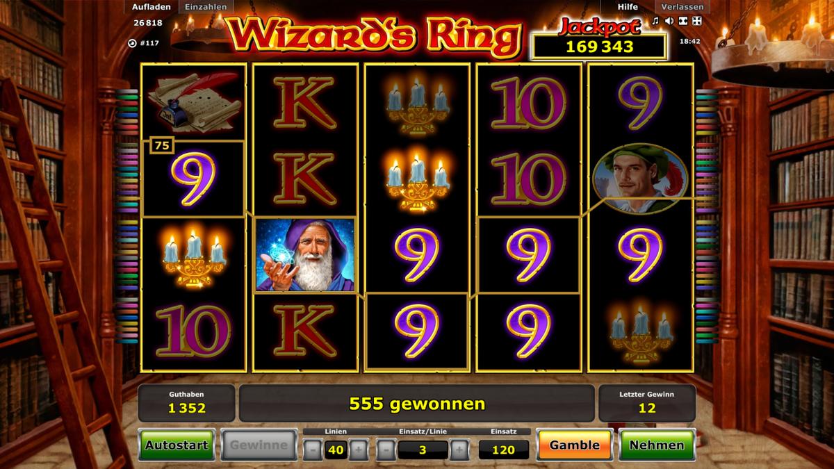 Wizard's Ring Spielautomat von Novoline